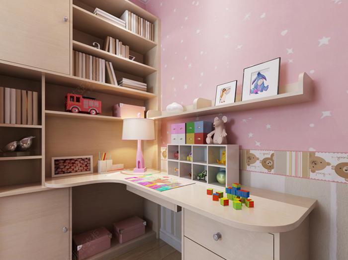 多功能儿童房定制衣柜书桌书架