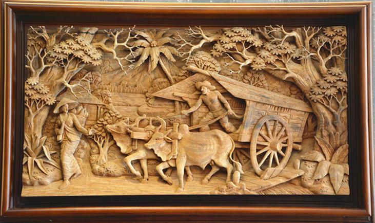 印尼野生桃花芯纯手工雕花制作挂件