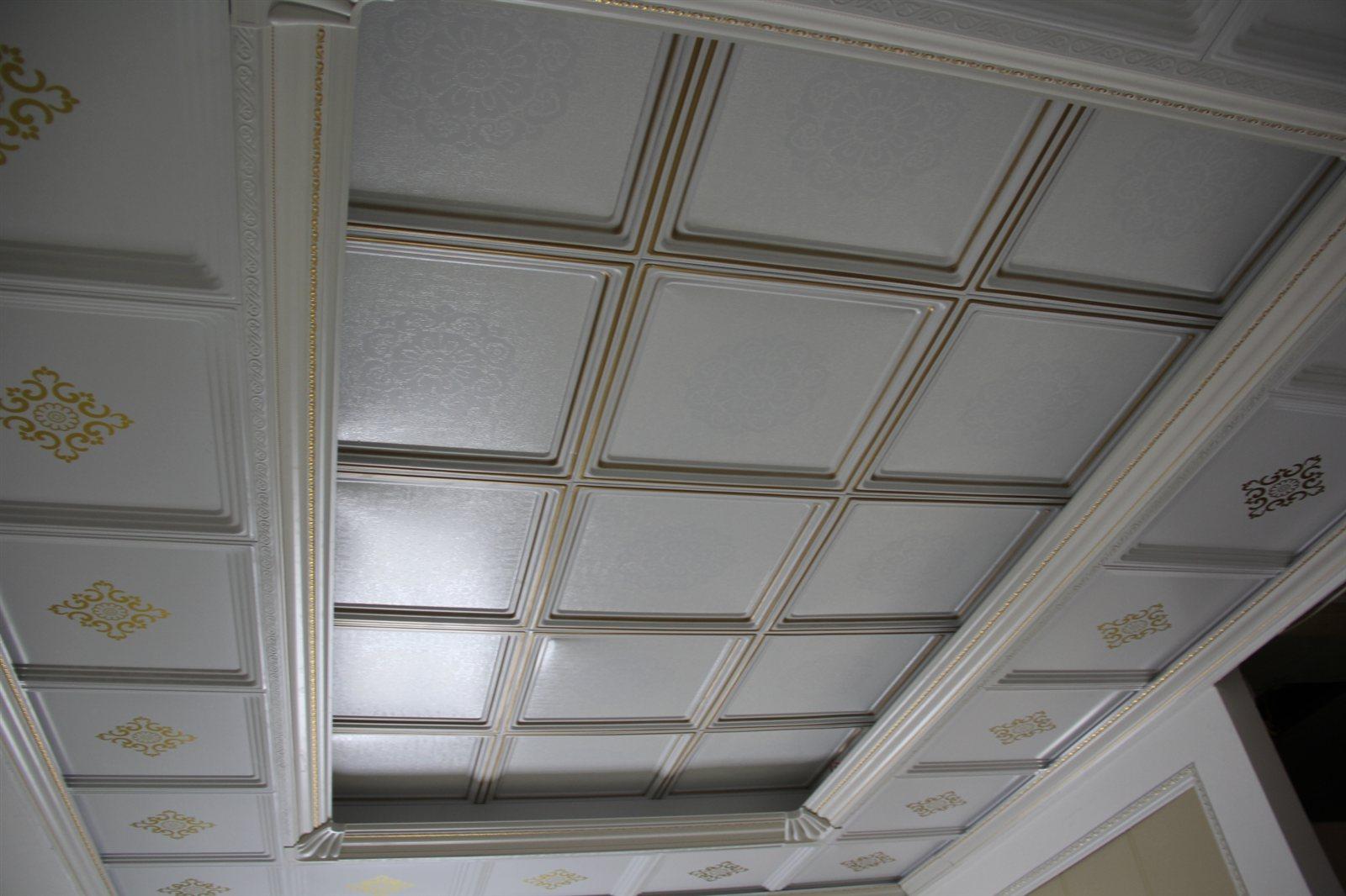 二级吊顶结构�_客厅二级粱吊顶