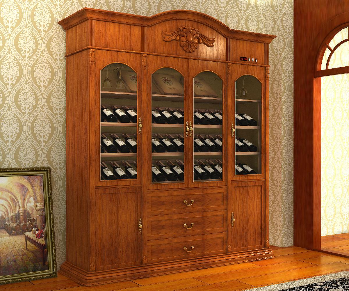 豪姆定制福州全屋定制实木酒柜定做整体橱柜推拉门等