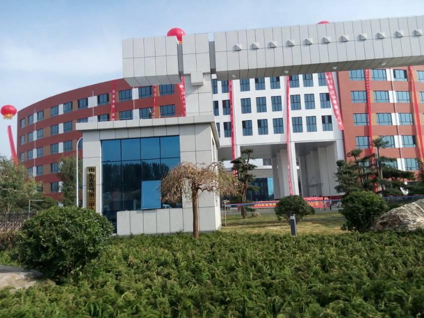 青州三中新校迎接第一批新生