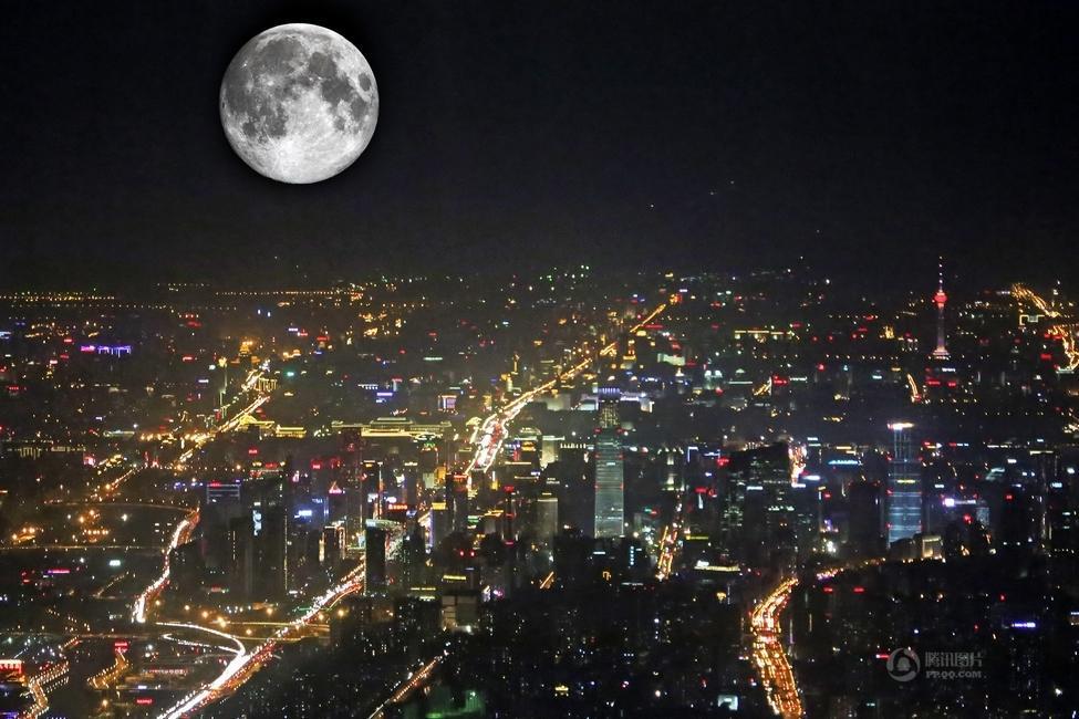 中秋节迎8年来最大月亮