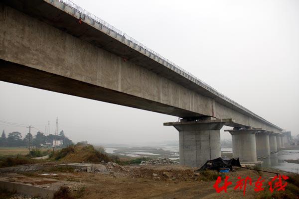 正在修建中的成兰铁路什邡马井段