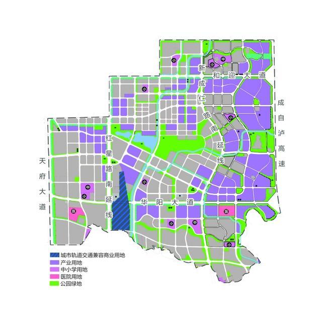 天府新区核心区域规划公布图片