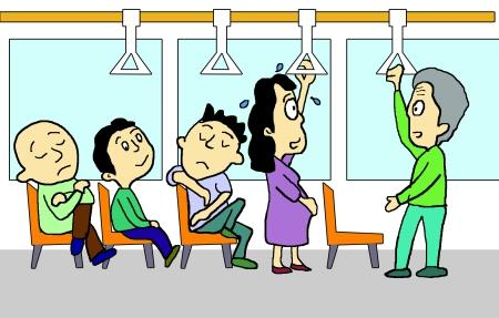 女子坐公交好心给老人让座却被翻白眼