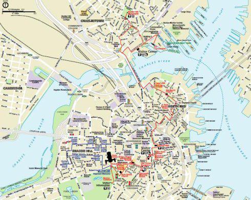 2014波士顿地图,波士顿地理位置及波士顿中文地图高清