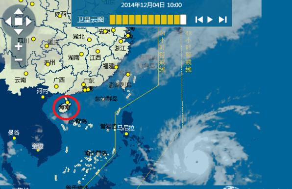 """台风""""黑格比""""12月4日10:00卫星云图.-黑格比 加强为超强台风 路径图片"""