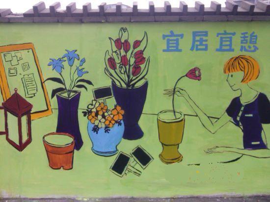 九江市首个涂鸦文明彩绘墙