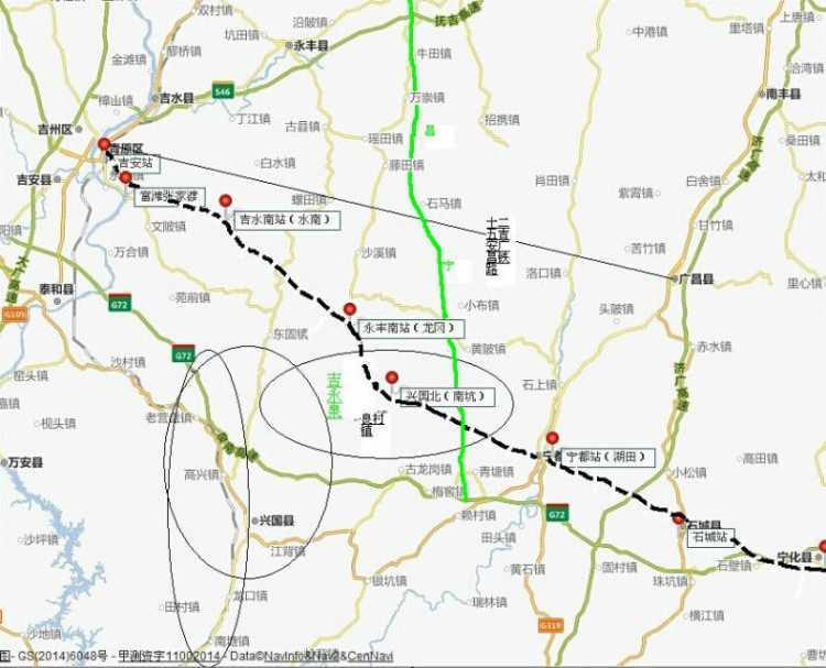 吉永泉铁路宁都境内线路走向及站场设置举行论证会