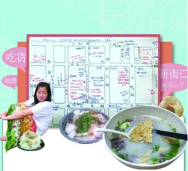 南京白领 手绘新街口美食地图