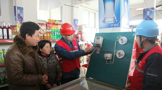 五河供电公司走村入户宣传安全用电常识