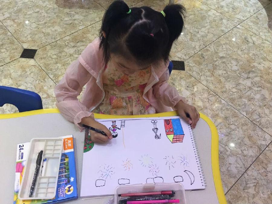 参加前面比赛的小朋友绘画作品已成功上传本次大赛投