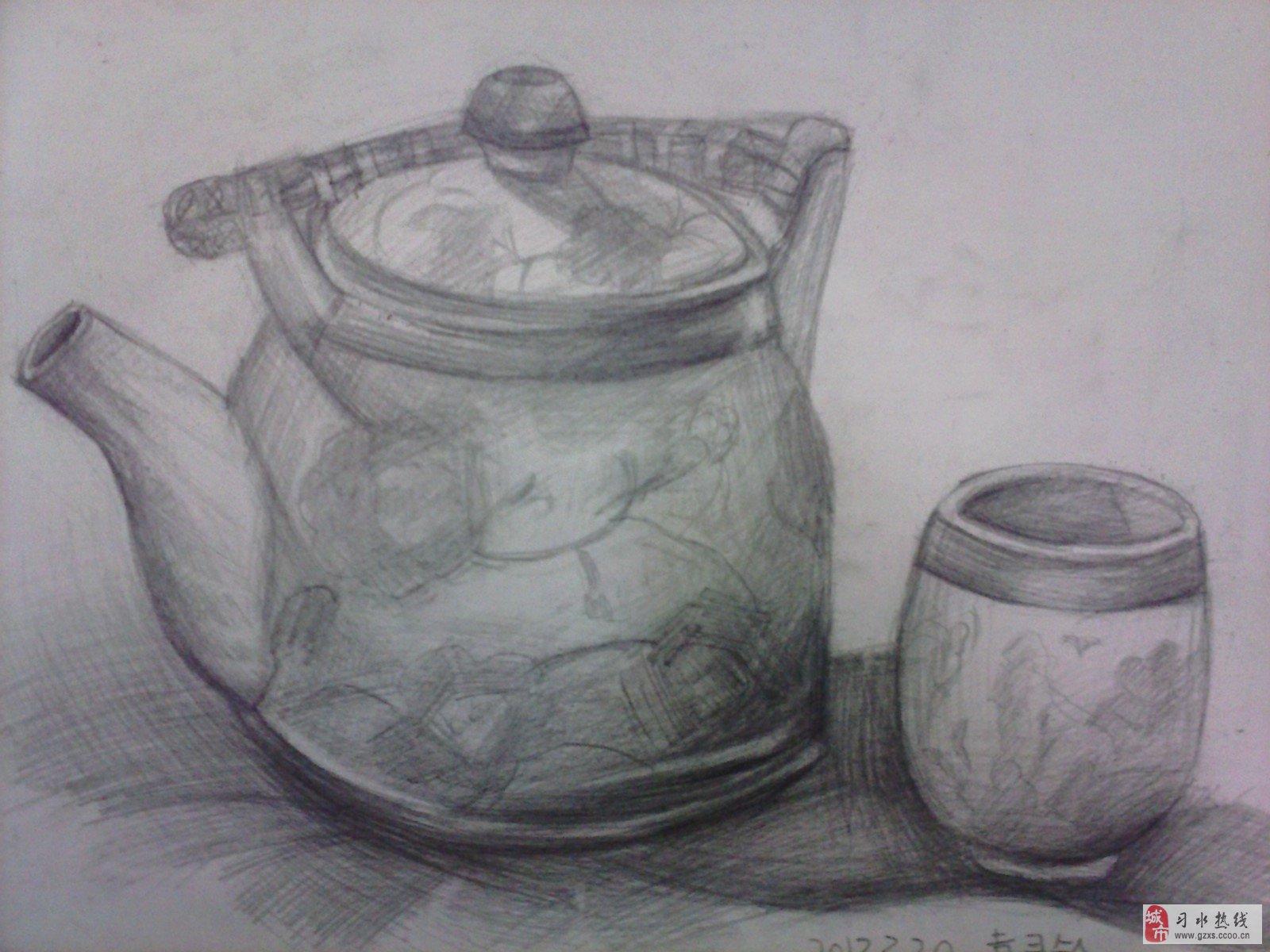 茶壶 壶 素描 1600_1200