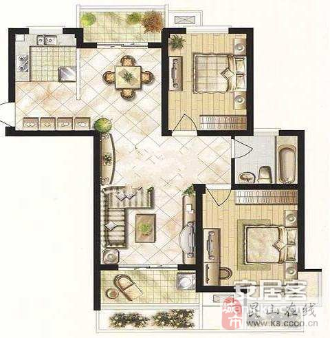 7x15兩面采光房屋設計圖展示