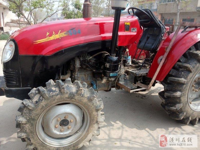 转让东方红 504拖拉机 带旋耕机 高清图片