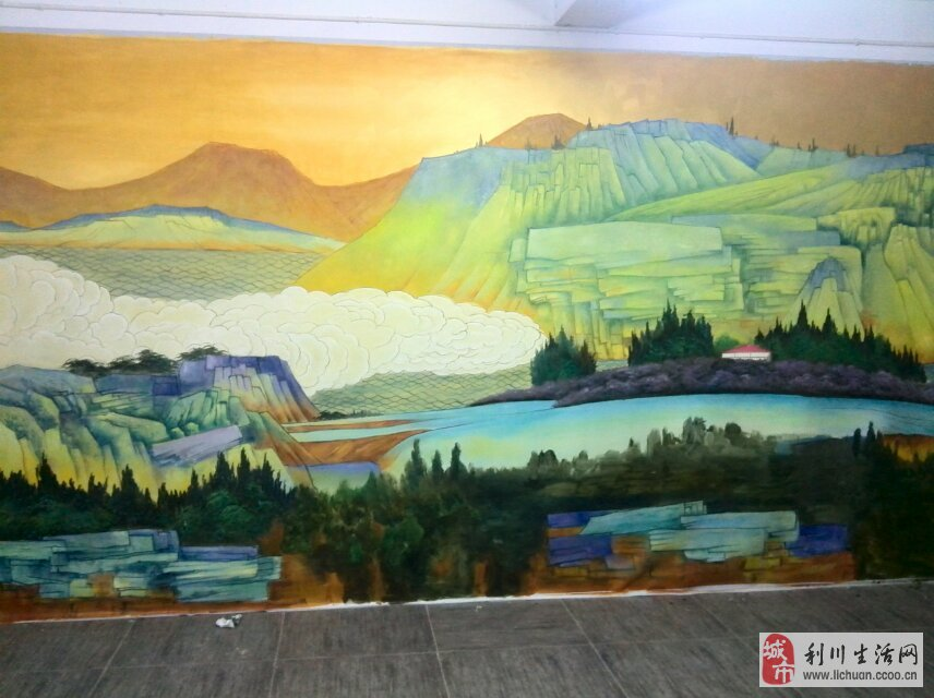 利川 墙绘 手绘墙 装饰画 油画