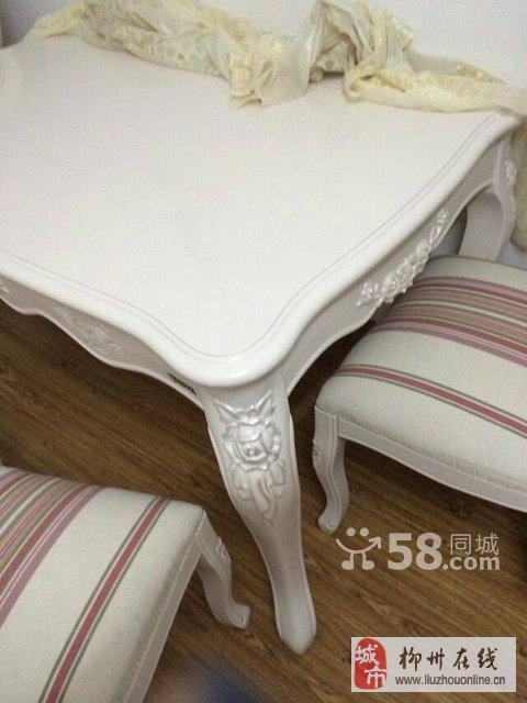 欧式橡橡木雕纹餐桌椅