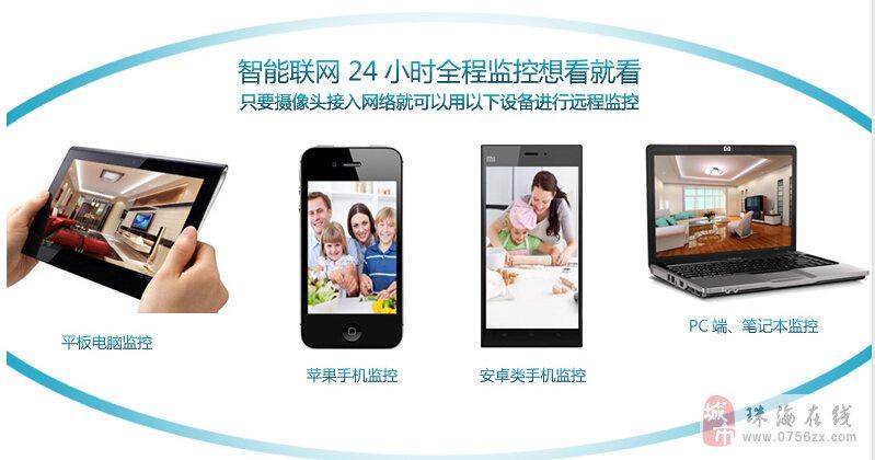 wifi无线网络监控摄像头远程监控