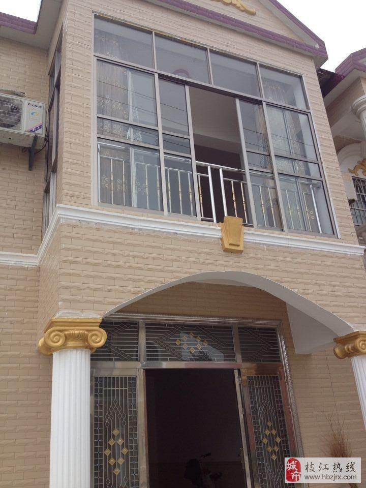 农村住房两层半设计图第二层弧形窗展示
