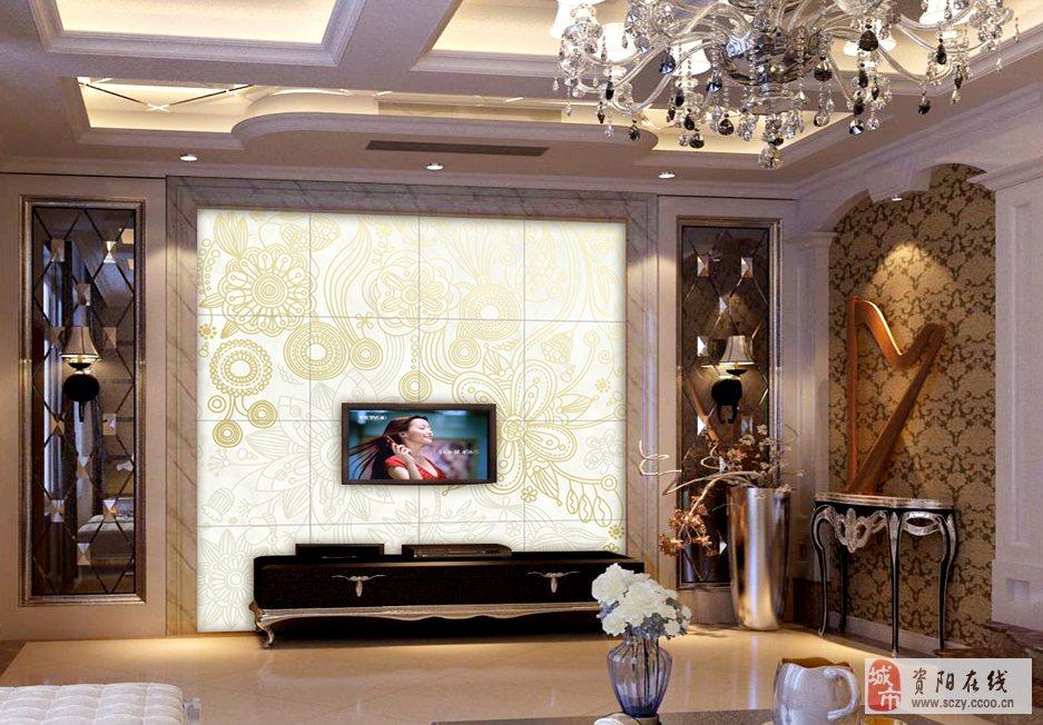 梵天艺品彩雕瓷砖背景墙
