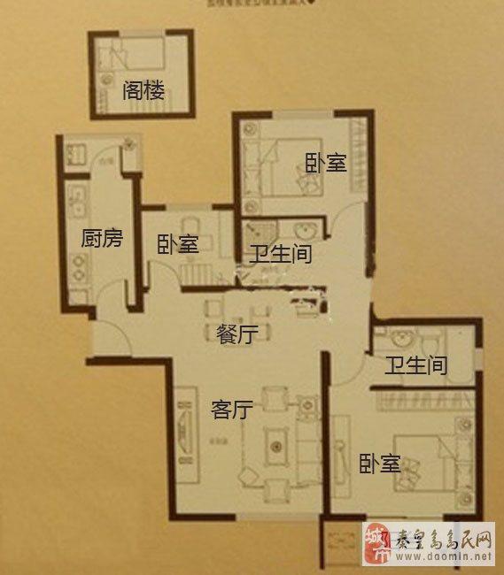 南北通透三房房屋平面设计图分享展示图片