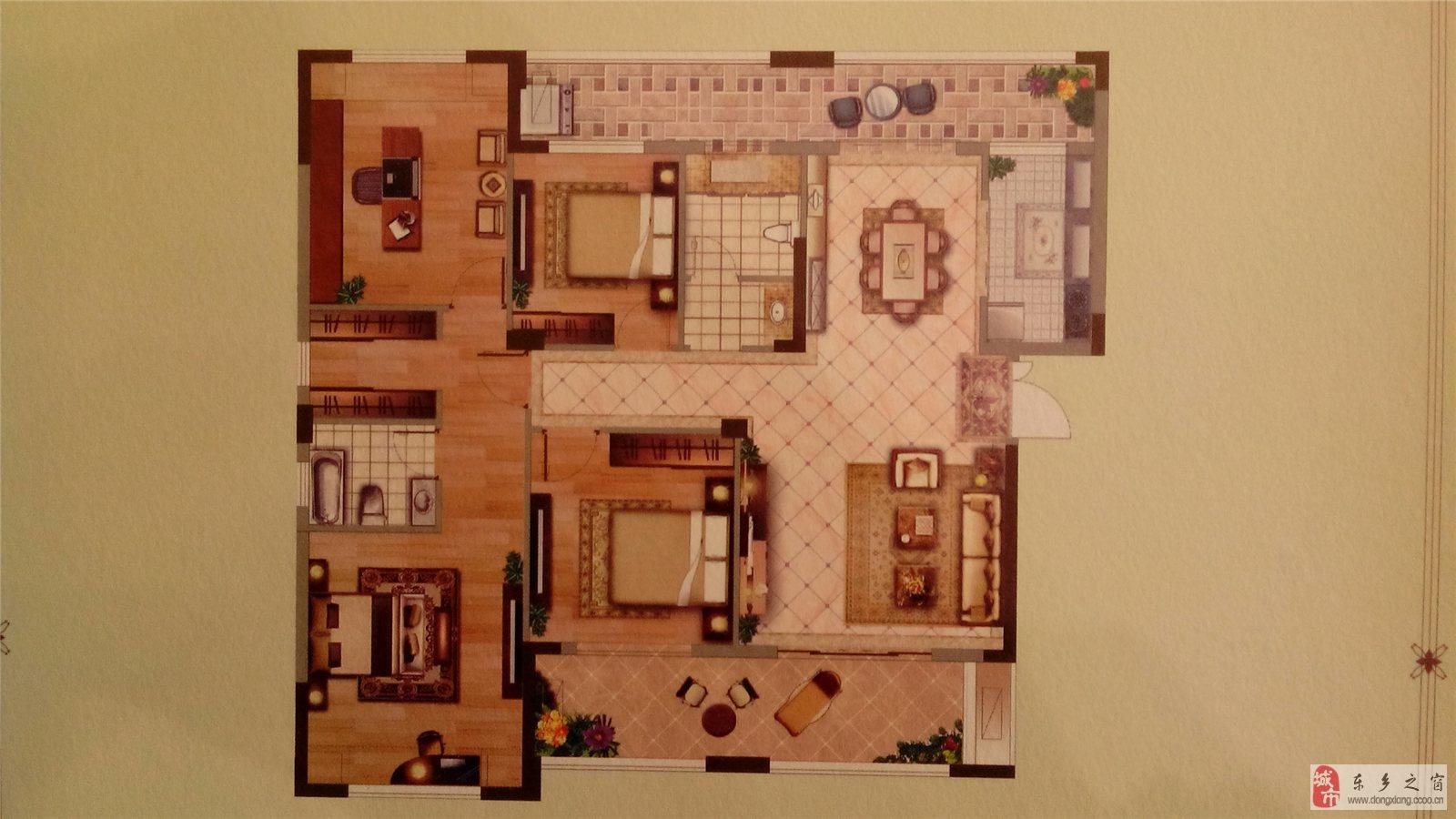 160平方套房子四房一厅设计图图片