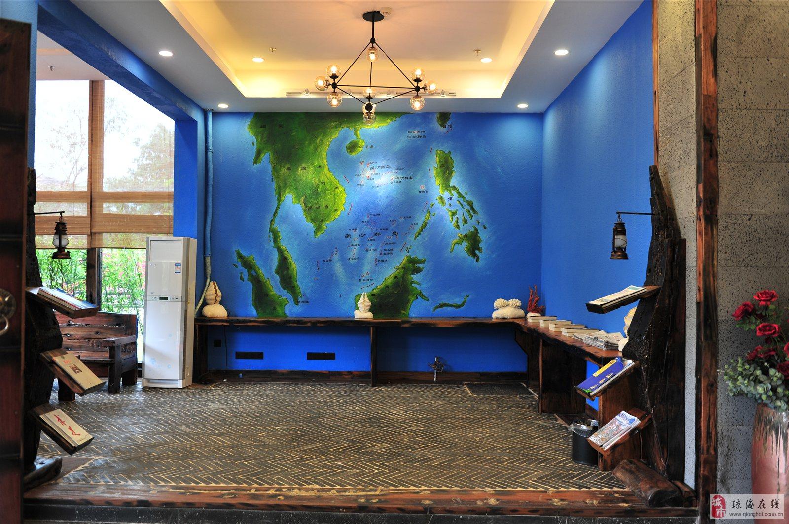 集南海鱼耕文化,海岛慢调休闲咖啡厅,豪华船舱室式精心设计的特色客房