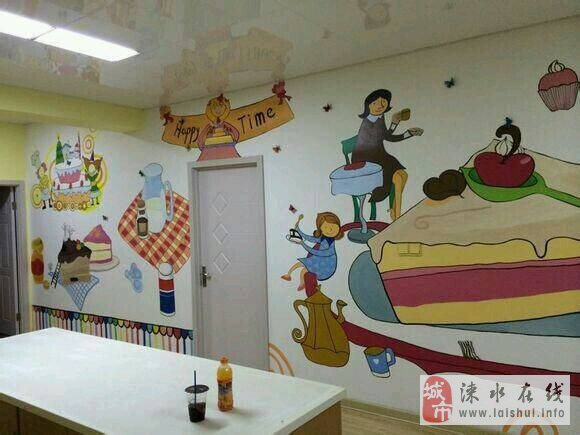 创意墙绘,电视背景墙,幼儿园文化墙 (580x435)-创意电视背景墙