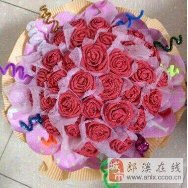 川崎玫瑰花手工花图片