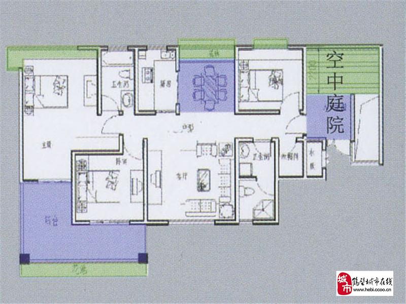 鹤壁天鹏晟景楼盘规划图|户型图|实景图|样板间-鹤壁