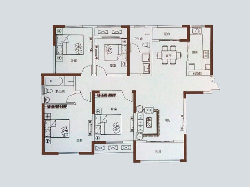鹤壁双水湾房间结构图