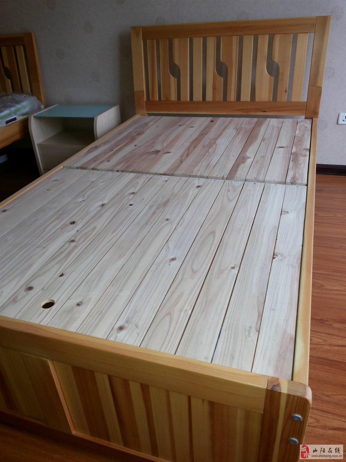 全新实木单人床一个
