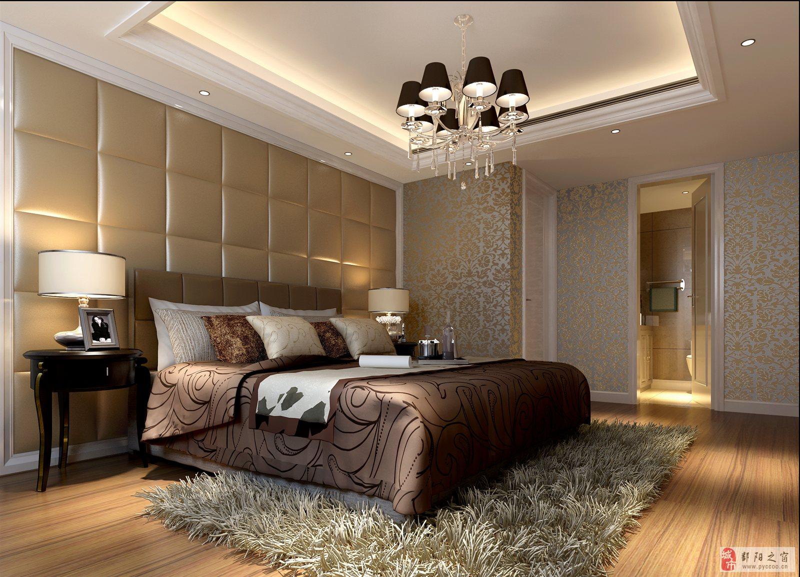 庐山室内手绘效果图卧室