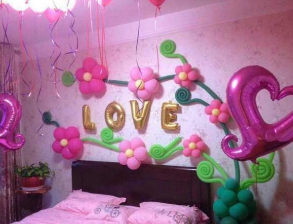 泉州结婚房间气球布置图片