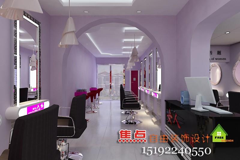 莱阳焦点装饰设计案例-发廊效果图