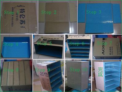 废物利用手工制作之纸箱做鞋柜