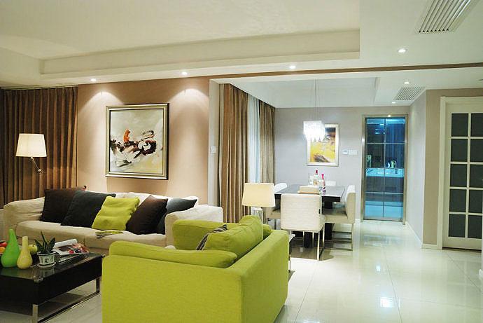10万装92平 现代简约清新两居室