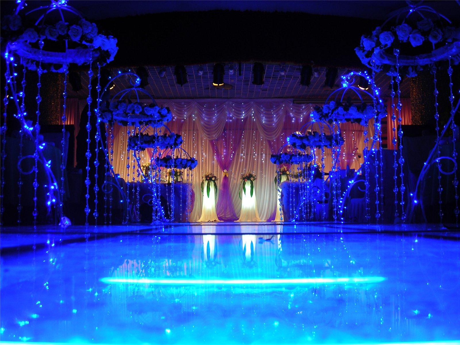 蓝色海之恋西式婚礼现场