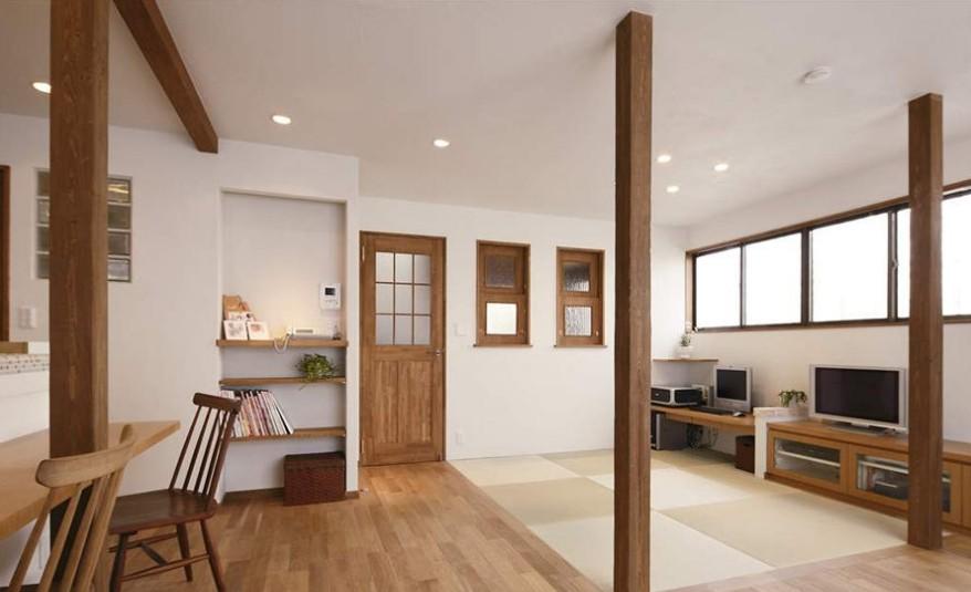 简单日式客厅装修效果图