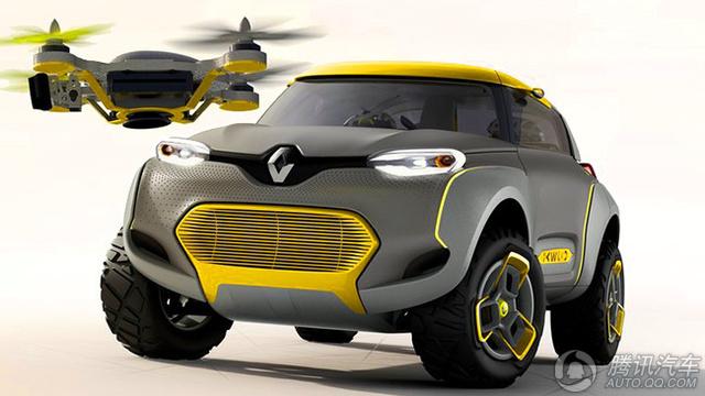 雷诺Kwid概念车自带无人机 内饰如鸟巢