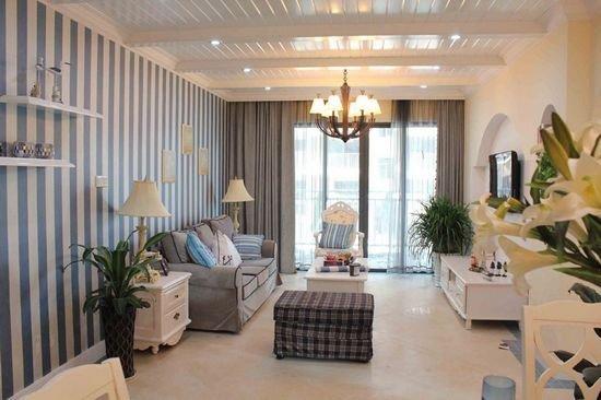 5万装出地中海风格70平小户型青年公寓