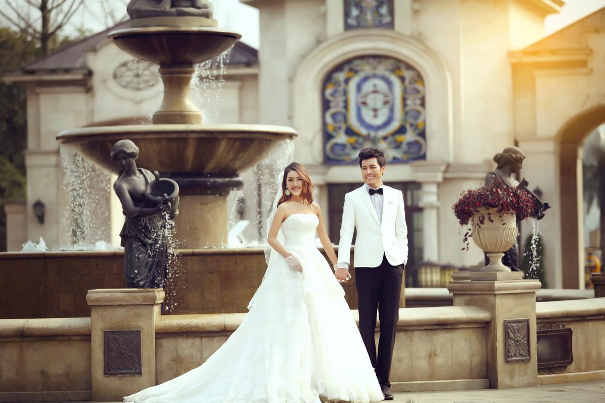 唯美优雅婚纱照