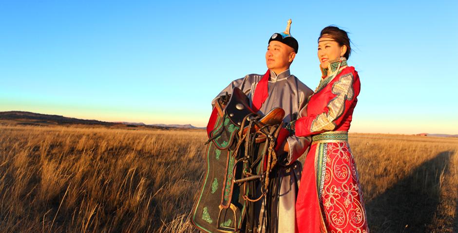 蒙古风景手绘图