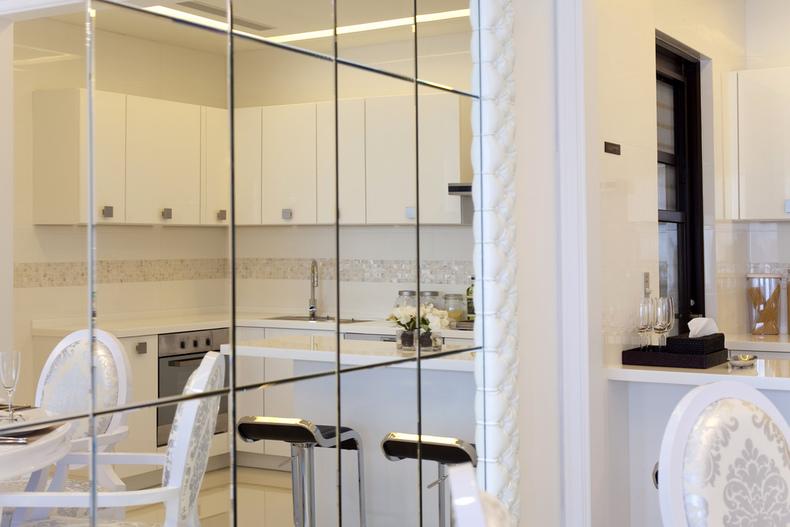 和谐家园两室一厅简欧效果图图片