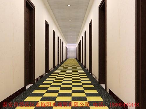 泰安金燧�光��I塑�z地板工程案例