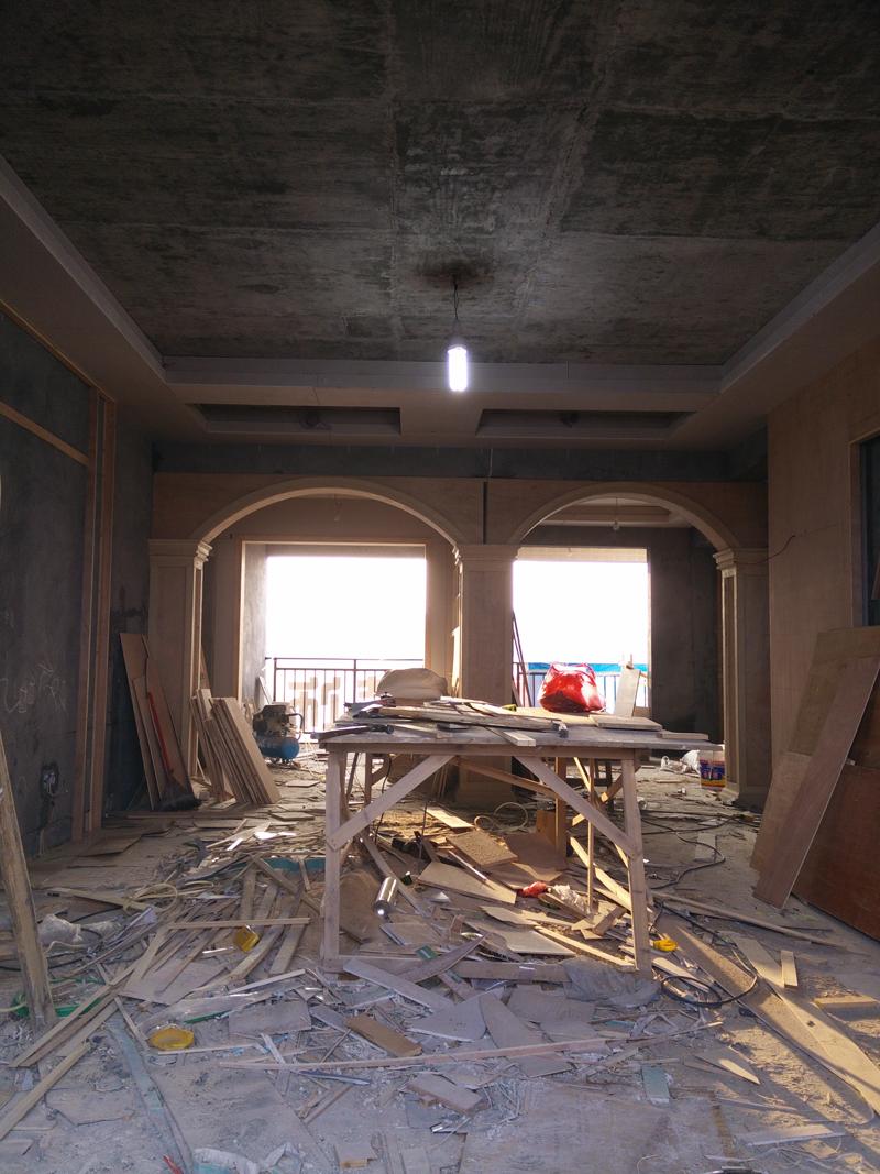 泊郡电梯房施工案例