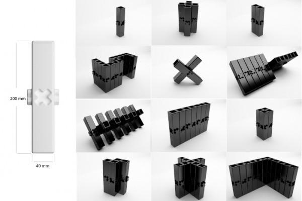 muipe 模块化花瓶设计,自由组合拼接