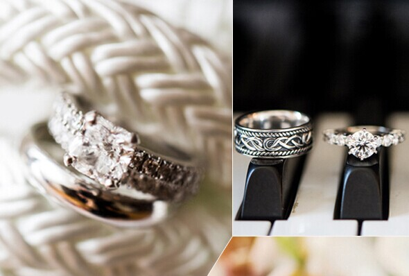 结婚戒指的11种创意拍摄方案:绳结之间闪耀的珠光