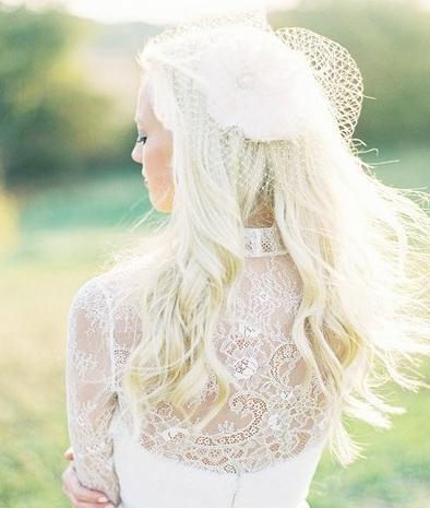 新娘头像侧面朦胧