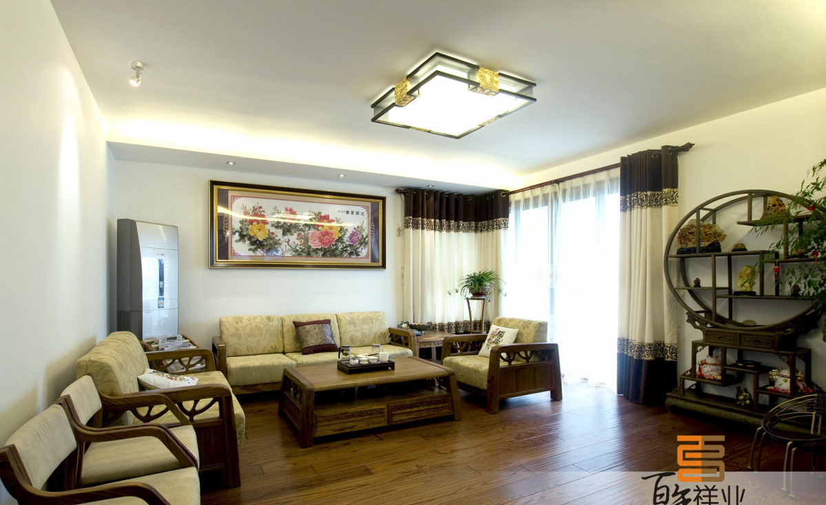 中式客厅装修效果参考